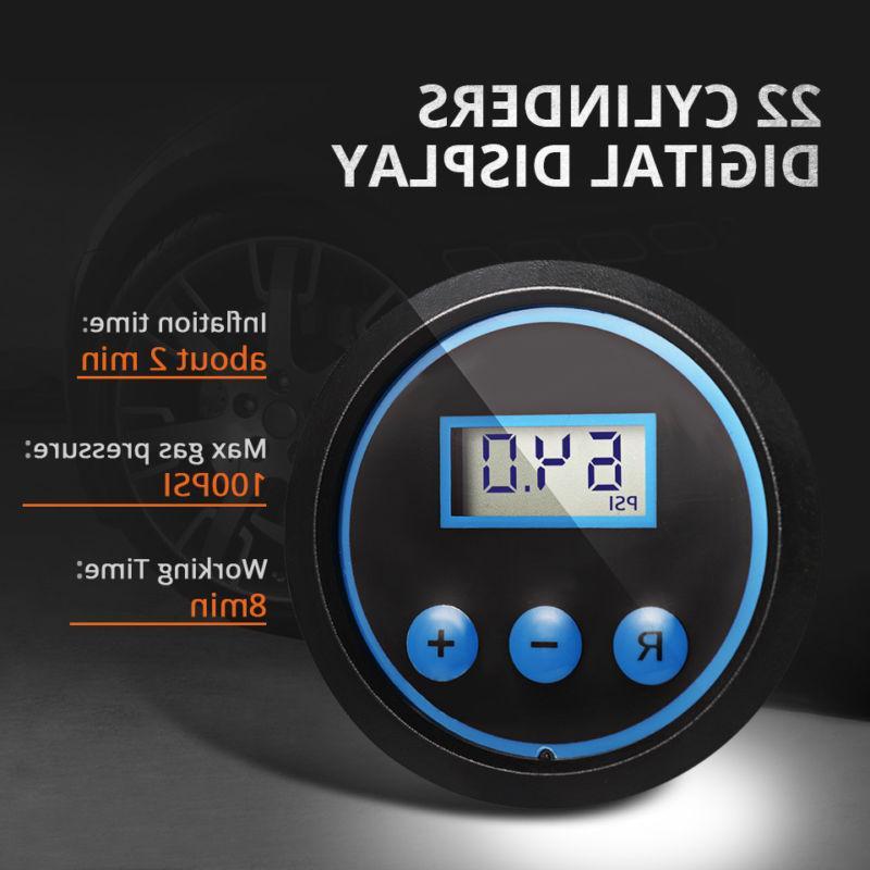 Tire Inflator Compressor Portable Auto Volt 100 PSI