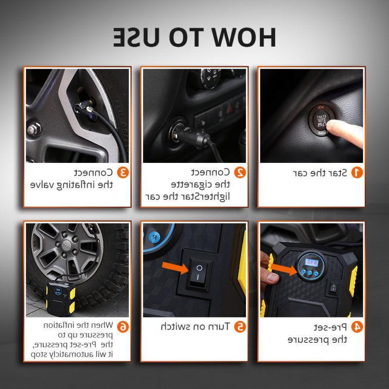 Tire Car Compressor Auto 12V DC