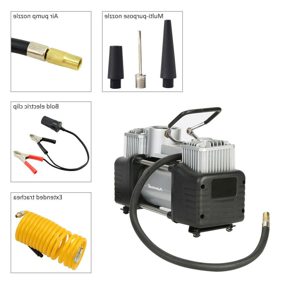 12V Duty Air Tyre Auto Tire Inflator Pump 150PSI