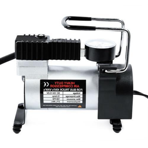 Tire Pump Compressor Electric Auto PSI