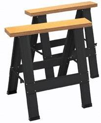 Harbor Freight Tools Two Piece Foldable Saw Horse Set by Har