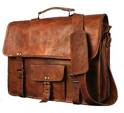 leather bags Vintage Leather Messenger Soft Leather Briefcas