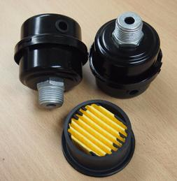 "Lot of  Air Compressor Metal Air Filter Silencer 1/2"" MPT Pa"