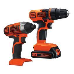 BLACK+DECKER 20V MAX* Drill/Driver + Impact Combo Kit - BD2K