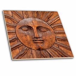 3dRose Mexico, San Miguel De Allende. Sun Carving on Doorway