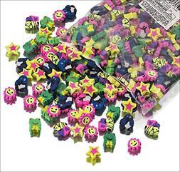 Pack of 500 Mini Eraser Assortment Novelty By Blue Green Nov