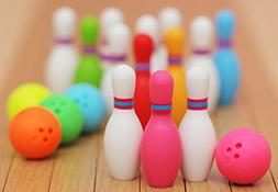 Miniature Bowling Eraser Set  by Iwako Japan