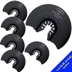 MTP Tm Pack of 6 Semi Round Wood Blade Quick Release Univers