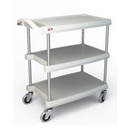 Metro MY1627-34G Utility Cart - 3-Shelf, Open Base, 400-lb C