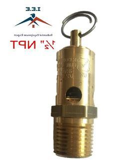 "New 1/2"" NPT 200 PSI Air Compressor Safety Relief Pressure V"