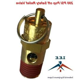 "New 1/4"" NPT 200 PSI Air Compressor Safety Relief Pressure V"