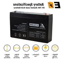 New 6Volt 7AH Sealed Lead Acid  Battery with F1 Terminal Ada