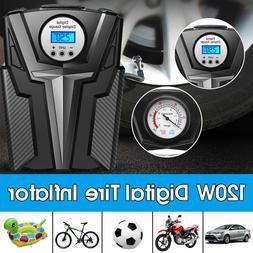 New Digital Tire Inflator Pump DC 12 Volt Car Portable <font