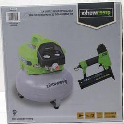 *NIOB* Greenworks 6 Gallon 12 Amp Corded Air Compressor Comb