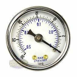 "1/8"" NPT Air Compressor / Hydraulic Pressure Gauge 0-30 PSI"