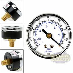 "Quality 1/4"" NPT Air Pressure Gauge 0-160 PSI Back / Rear Mn"