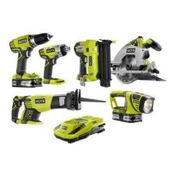 ONE+ 18-Volt Lithium-Ion Cordless Combo Kit with Brad Nailer