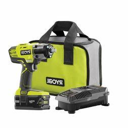 "P261 3 speed RYOBI 18V 1/2"" cordless impact wrench kit w Bag"