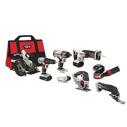 PORTER-CABLE PCCK6118 20V MAX Lithium Ion 8-Tool Combo Kit
