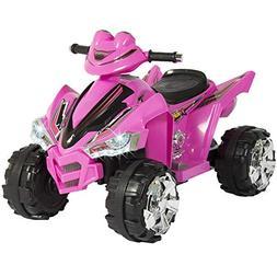 Pink Kids Ride On ATV Quad 4 Wheeler 12V Battery Electric Po