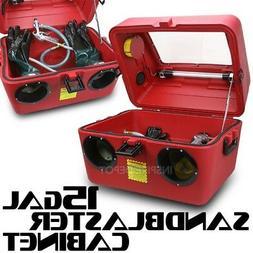 XtremepowerUS Portable 15 Gallon Abrasive Sandblaster Cabine