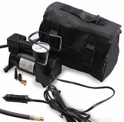 Portable Air Compressor LED Car 12V Pump Auto Tire Inflator