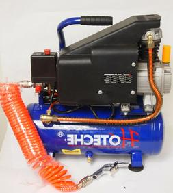 Portable Air Compressor Oil Lube 3 Gal 1.5 HP Hose Accessory