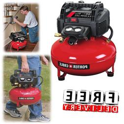 Portable Air Compressor Pancake Porter Cable 150 Psi Pump El