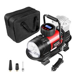 Portable Air Compressor Pump, Tire Inflator 12V 150 PSI with