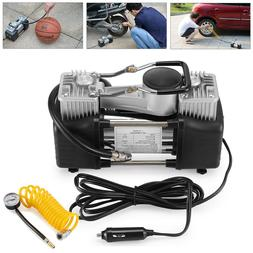 portable double cylinder 12v 150psi car auto