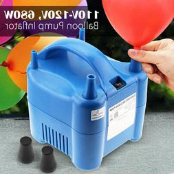 Portable Electric Balloon Air Blower Inflator Pump Two Nozzl