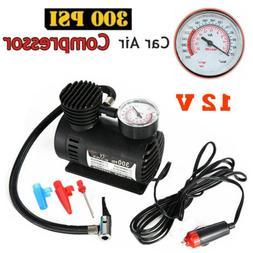 Portable Mini Air Compressor Electric Tire Infaltor Pump 12