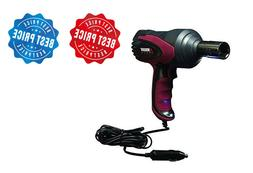 Portable Power Impact Wrench Kit Battery Corded Auto Tire Lu