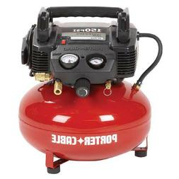 Porter-Cable 0.8 HP 6 Gal. Oil-Free Pancake Air Compressor C