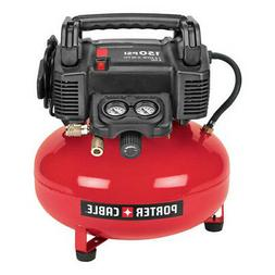 Porter Cable 150 psi 6 Gallon Oil-Free Pancake Air Compresso