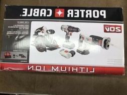Porter Cable 20v max 4 Tool Combo Kit Pcck616l4