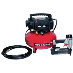 Porter-Cable 6 Gallon 150 Psi Compressor Brad Nailer Combo K