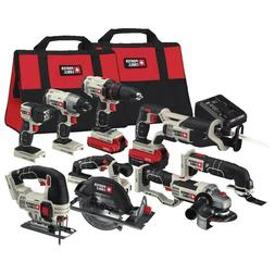Porter Cable PCCK619L8 Max Lithium Ion 8 Tool Combo Kit 20v
