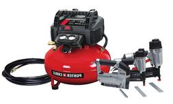 Porter Cable Portable Electric Air Compressor Combo Kit  6 G