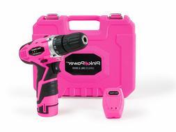 Pink Power PP121LI 12V 12 Volt Cordless Lithium Ion Drill Dr