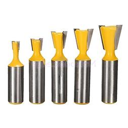 5Pcs Profesional Dovetail Router Bit Mill Cutter Woodworking