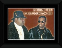 Puff Daddy - Notorious BIG Framed Mini Poster - 14.7x10.2cm