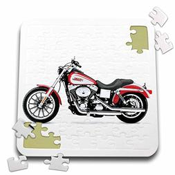 3dRose Puzzle Picturing Harley-Davidson174; Motorcycle - 10x