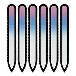 Rainbow Crystal Nail File in Black Velvet Pouch | Czech Temp