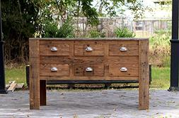 """48"""" Reclaimed Wood Apothecary Chest Hand Crafted Barn Wood C"""