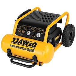 DEWALT D55146R Heavy Duty 4.5 Gallon Compressor with Wheels