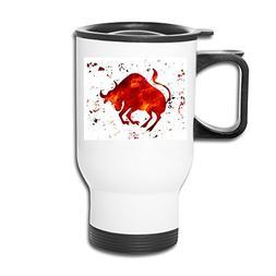 BEDOO Red Bullfight Travel Mugs White