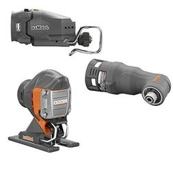 Ridgid Jobmax 3 Head Kit – Jig Saw, Reciprocating Saw, Imp