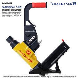 Ramsond RMM4 2-in-1 Air Hardwood Flooring Cleat Nailer and S