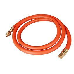 DuRyte Pro 300 PSI Rubber Lead-In Air Hose - 3/8-Inch by 6-F